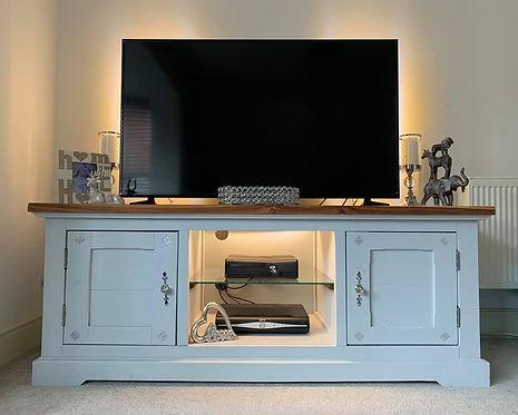 custom painted tv unit