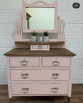 custom painted dressing tables