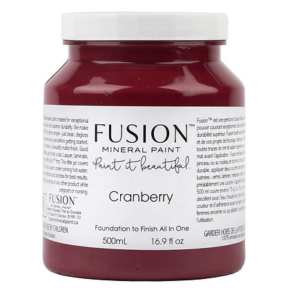Fusion mineral paint Cranberry 500ml, 37ml