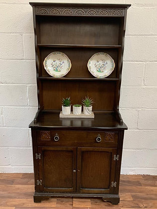 Custom/bespoke hand painted to order small vintage Welsh Dresser Fusion