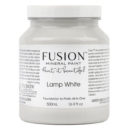 Fusion mineral paint Lamp White 500ml, 37ml