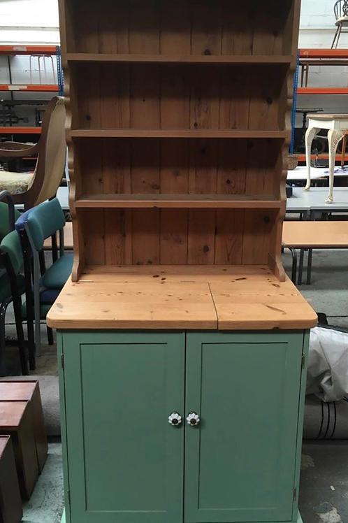 Solid pine Welsh dresser lift up top