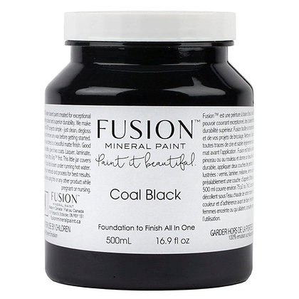 Fusion mineral paint Coal Black 500ml, 37ml