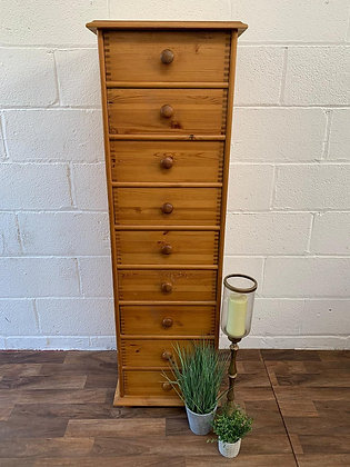 Custom/bespoke painted in a colour of your choice pine tall chest of drawers