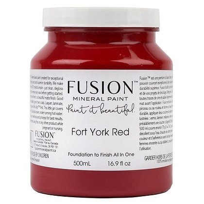 Fusion mineral paint Fort York Red 500ml, 37ml