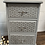 Thumbnail: Lovely set of painted and stencilled solid pine bedside cabinets/tables/drawers