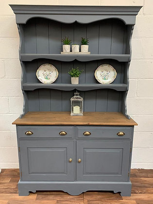 Stunning Welsh Dresser hand painted in Fusion mineral paint Soapstone grey
