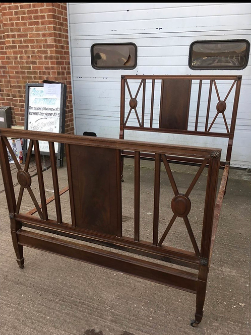 Antique Victorian double bed