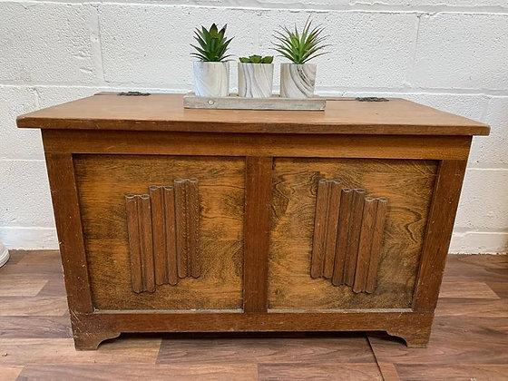 Custom/bespoke painted to order vintage carved blanket/toy/storage box