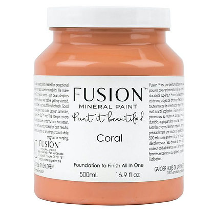 Fusion mineral paint Coral 500ml, 37ml