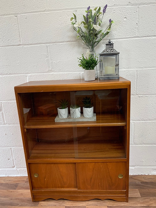 Vintage glass display bookcase