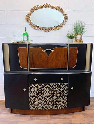 Stunning Art Deco style mid-century Beautility drinks/cocktail cabinet/sideboard