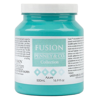Fusion mineral paint Azure 500ml, 37ml