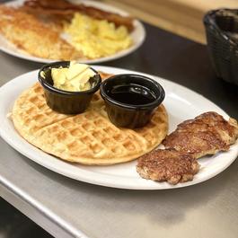 Waffle with Sausage
