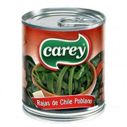 Chile Poblano en Rajas 215 grs.