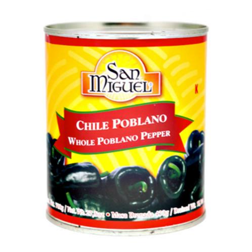 Chile Poblano Entero 780 grs. SAN MIGUEL