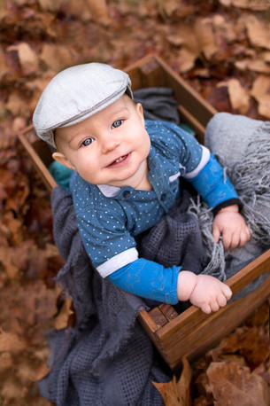 Baby Photography Perth autumn leaves