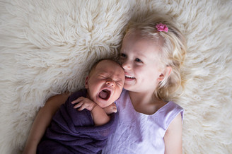 Newborn and sibling Photography Perth