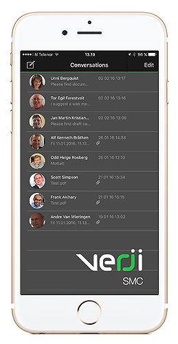 Verji SMC App on smart phones