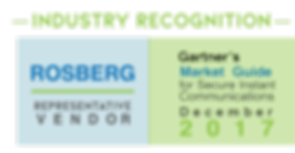 Rosberg is a listed representative vendor in Gartner's Market Guide for Secure Instant Communicat ons, December 2017. Find more, www.rosberg.com