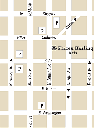 Parking Map for Kaizen Healing Arts