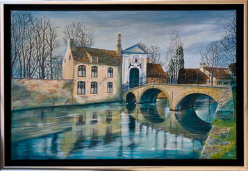 Bridge Reflection at the Beginage - Bruges