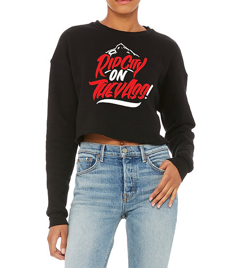 Laides BG RipCity on the Ass Crop Top Sweatshirt