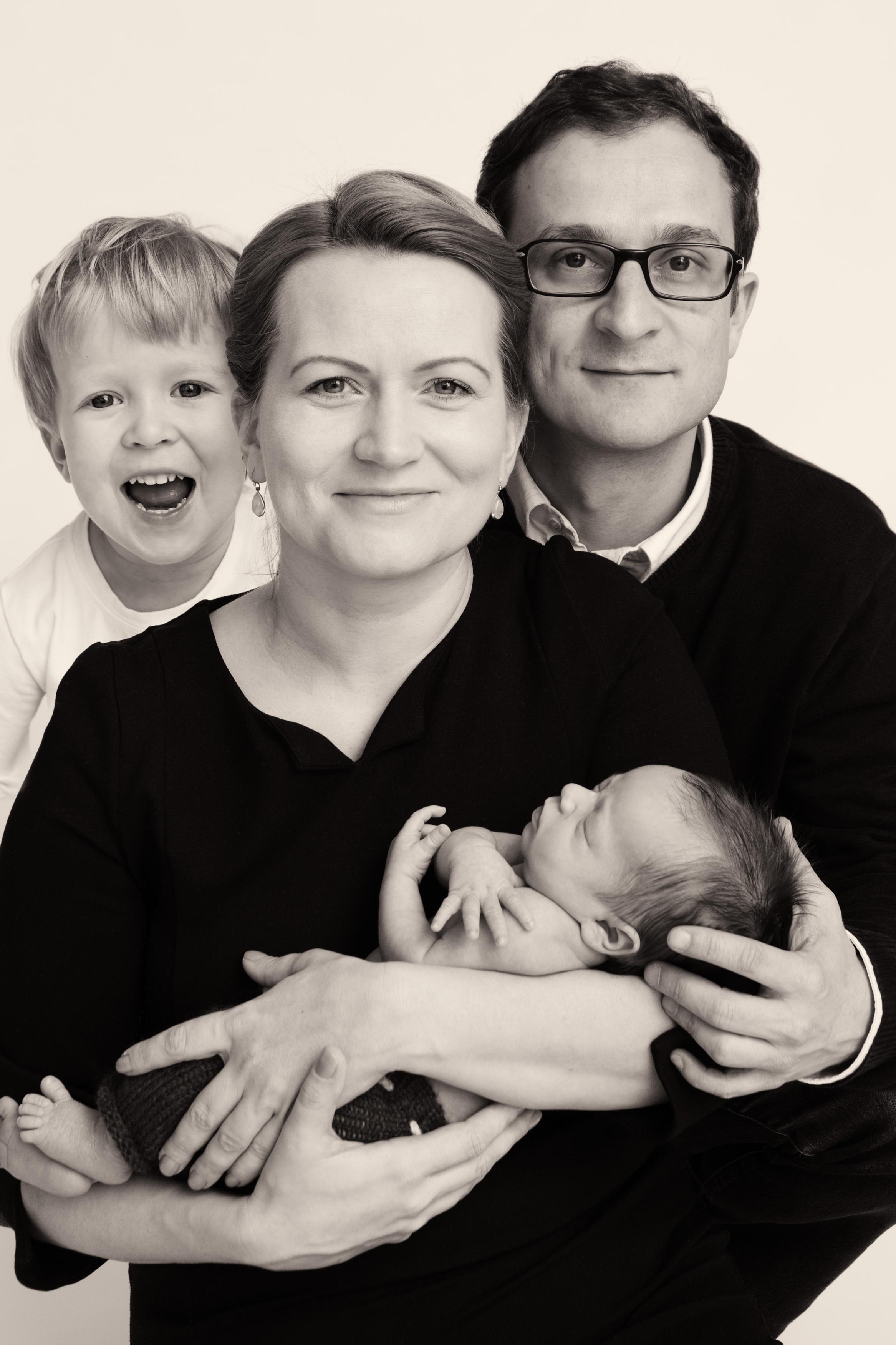 Home studio family portraits