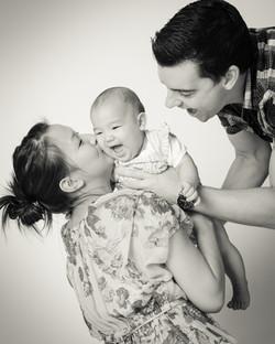 Home studio baby photography