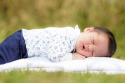 Outdoor newborn photo session