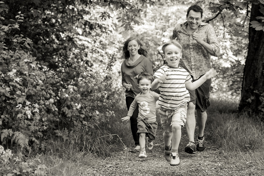 Family, children and baby photographer in London