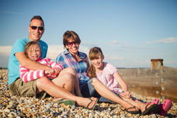 Family photography at the seaside.