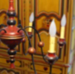 chandelier, lustre, antiquité, le maitre couleur, peinture de lait, ancien, reproduction