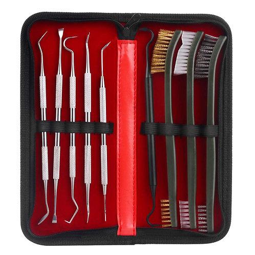 9pcs/Set Gun Cleaning Brush and Pick Kit