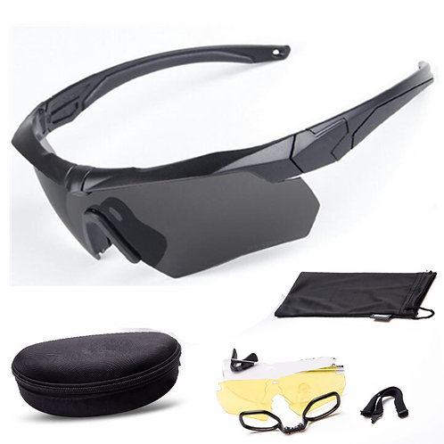Shooting Glasses with  Polarized Three Sets of Lenses