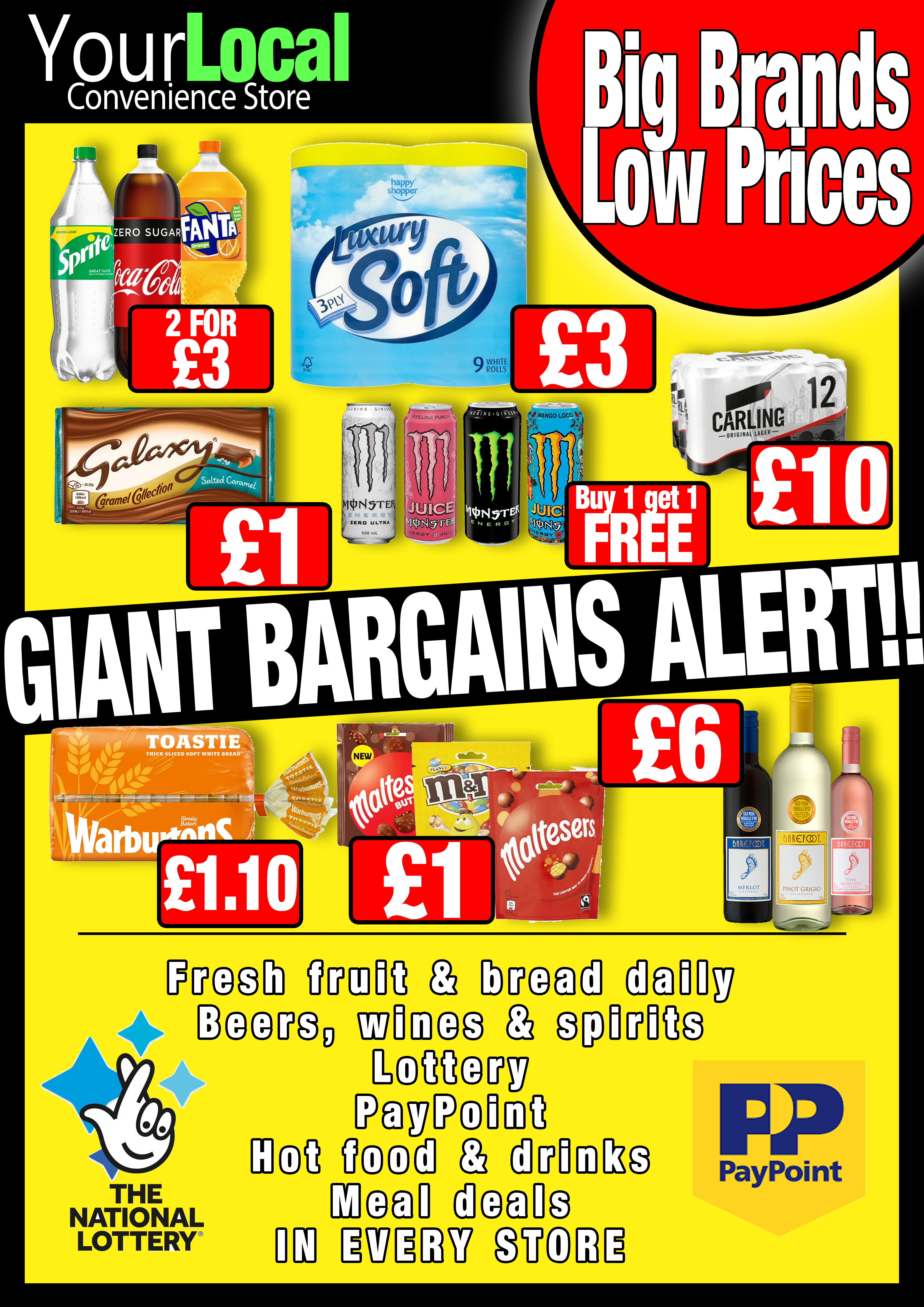 YourLocal discount poster