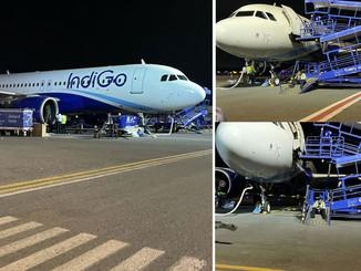पटना से दिल्ली जा रही फ्लाइट टकराई पक्षी से, विमान में 120 यात्री सवार।