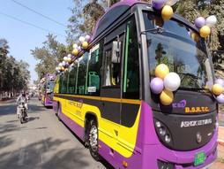 बिहार की सड़कों पर आज से इलेक्ट्रिक बसों का परिचालन शुरू।