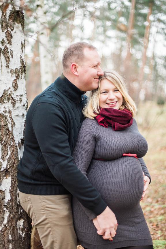 Zimní těhotenské focení