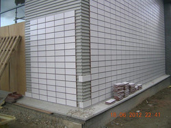 external wall cladding - brick