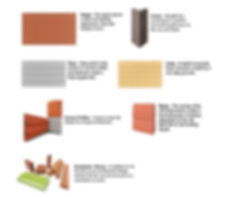 Terracotta rainscreen tiles profiles: Tama, Terzo,Custom, Danza, Corner, Lineo
