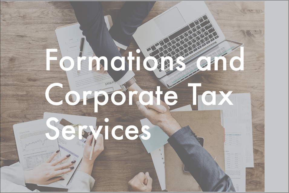 •  Limited Liability Companies (LLC's)  •  Corporate Taxes  •  Not-For-Profits  •  Home Owner's Associations  •  Partnerships  •  Estate & Trusts  •  Gift Tax  •  Business Start-Ups