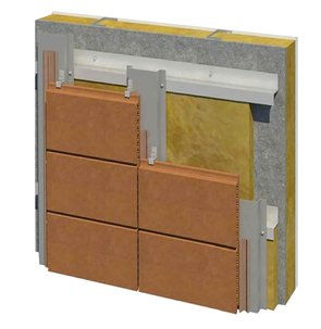 Argeton Terracotta Rainscreen System Rail System on Stud Wall