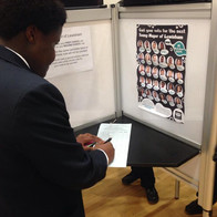 Lewisham student voting for their chosen Young Mayor candidate.