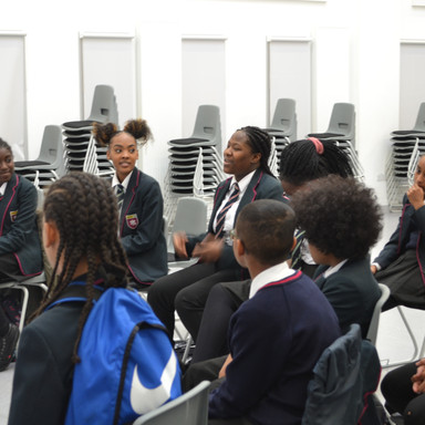 Students discussing their view on career prospects in the music industry.