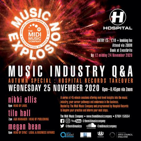 Music explosion! 25th Nov