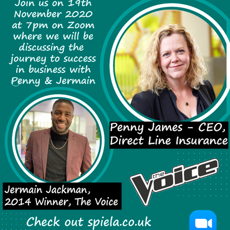 Joinspiela.co.uk  with Jermain Jackman (winner of the voice 2014) and Penny James (Ceo Direct line)