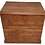 light wood file cabinet with two drawers and four metal pulls front view