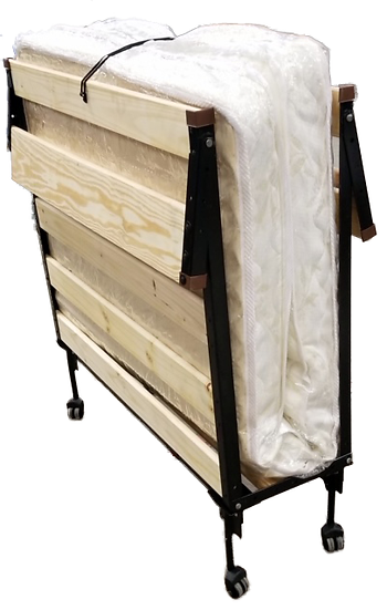 folded roll-away bed side view