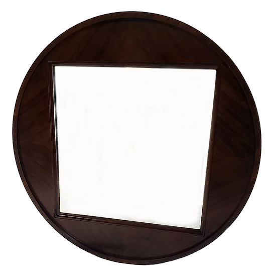 Large Mirror in round frame front view